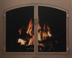 Mesh Fireplace Doors