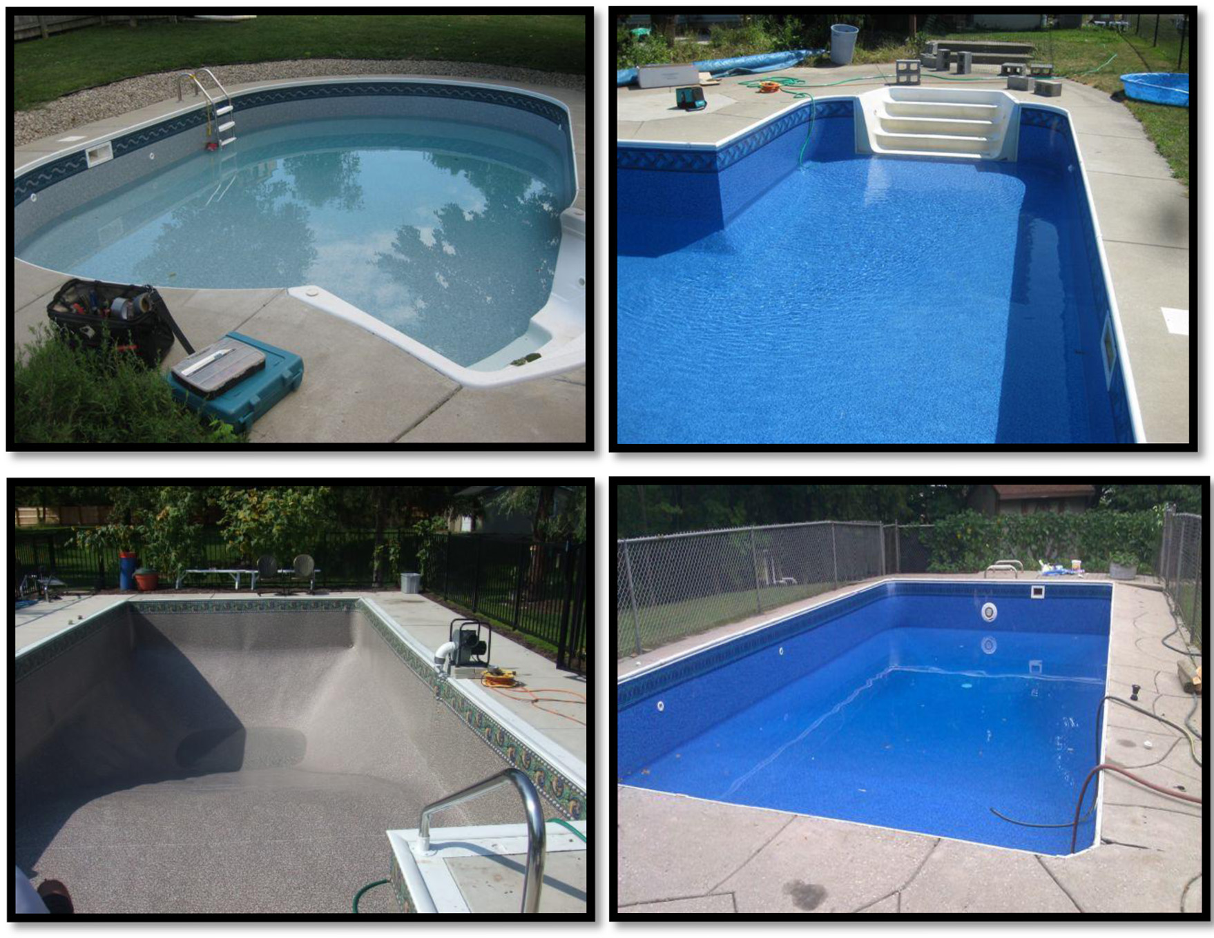 Recreational warehouse above ground swimming pools spas for Inground swimming pool liners