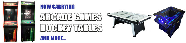 Arcade Games, Hockey Tables and More Now Available