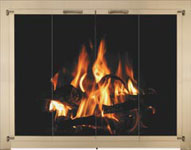 Glass Fireplace Replacement Doors for Masonry Fireplaces