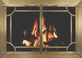 Plated Fireplace Doors