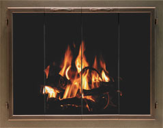 Bar Aluminum Fireplace Doors