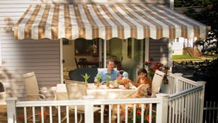 SunSetter Retractable Awnings - Tahoe Collection Desert Sand Fabric