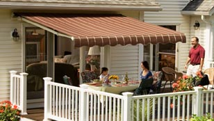 SunSetter Retractable Awnings - Sonoma Collection Mocha Fabric