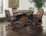Bradbury Poker Table (Game Table) Set with Four Swivel Chairs