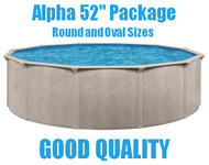 "Alpha 52"" Above Ground Swimming Pool Packages"