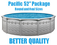 "Pacific 52"" Above Ground Swimming Pool Packages"