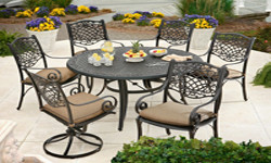 Cast Aluminum Cushion Dining Sets