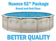 "Nuance 52"" Resin Above Ground Swimming Pool Packages"