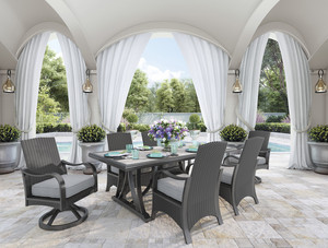 Cast Aluminum Cushion Dining Sets Wicker