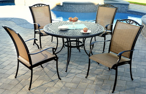 Cast Aluminum Sling Dining Sets