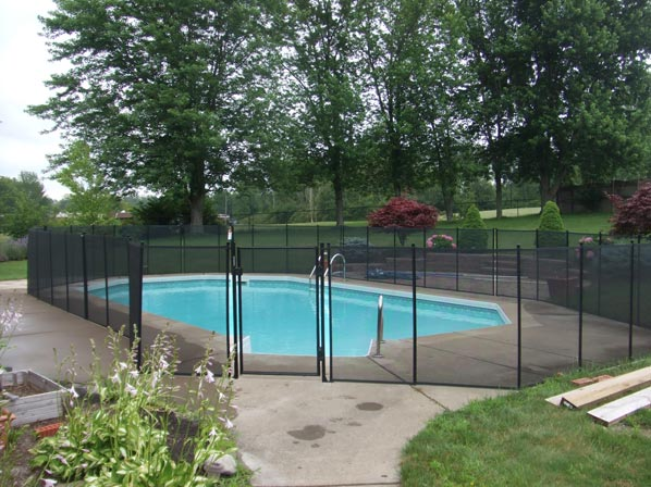 Inground pool safety fences fence