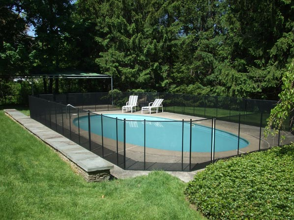 Inground pool safety fences inground pool fence for In ground pool fence ideas