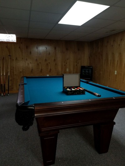 Avon Pool Table by American Heritage with electric blue cloth