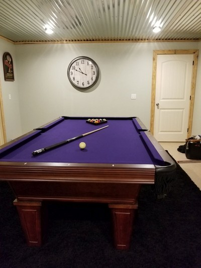 Avon Pool Table by American Heritage with purple cloth