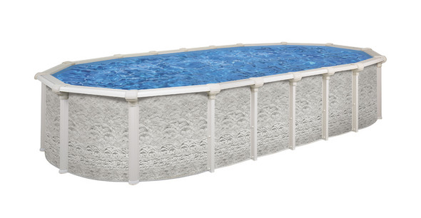 1202070645 12x24x52OvalAboveGroundSwimmingPoolPackageFresco  Above Ground Oval Swimming Pools