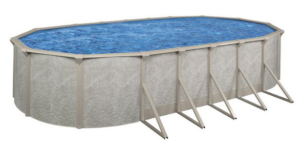 Above ground swimming pool packages alpha 52 above - Above ground oval swimming pools for sale ...