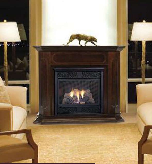 propane ventless gas fireplace