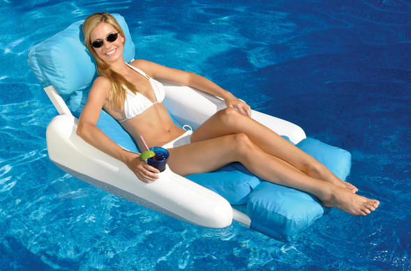 Pool Recreation Floating Lounge Chairs SunChaser SunSoft Luxury Lou