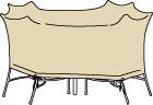 """60"""" Round Table & Chairs Cover - No Umbrella Hole"""