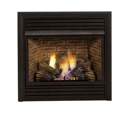 Ventless Gas Fireplace - Remote Ready - Natural Gas or Propane