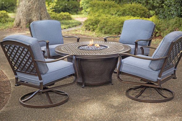 Parkdale 5 Piece Deep Seating Fire Pit Set With 48 Firepit