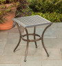 "Manhattan 20"" Square Cast Top End Table"