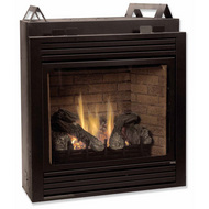 Monessen BDV Series Direct Vent Gas Fireplace w/ Remote Control - Natural Gas or Propane