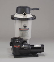 Hayward EC-40 Aboveground Pool Diatamaceous Earth Filter with 1 HP Power-Flo Pump