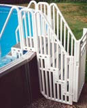 Confer Step Enclosure System with Gate