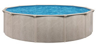 "24' Round Above Ground Swimming Pool Package, 52"" Alpha w/ Acadia Wall"