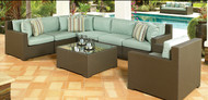 Malibu 4 Piece Sectional Set