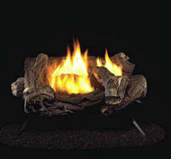 ProCom Split Hickory Ventless Gas Logs - Manual Control - 18 inch ONLY - Natural Gas Only