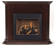 Monessen Barrington Wall Surround & Hearth Only - Dark Walnut Finish Only