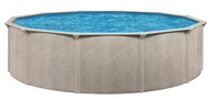 "15' Round Above Ground Swimming Pool Package, 52"" Alpha w/ Acadia Wall"