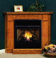 Monessen Corner Surround & Hearth Only - Oak or Cherry Finish - for Symphony 32