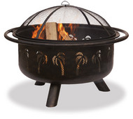 Palm Tree Design Wood Burning Firepit