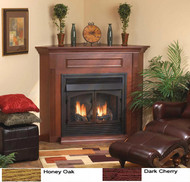 Monessen Corner Surround & Hearth Only - Oak or Cherry Finish - for Aria 32