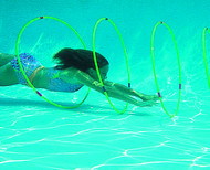Slalom Hoops Underwater Race Course