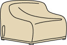 Wicker / Deep Seating Large Loveseat Cover