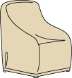 Wicker / Deep Seating X-Large Lounge Chair Cover