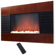 Even Glow Mahogany Wall Mount Electric Fireplace