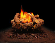 Monessen Mountain Cedar Ventless Gas Logs - Remote Ready - 18 or 24 inch - Natural Gas