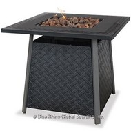 Steel Top Gas Burning Fire Pit