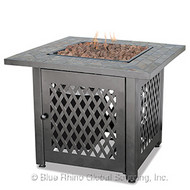 Square Top Gas Burning Fire Pit