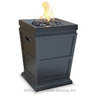 Small Square Top Gas Burning Fire Pit