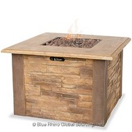 Faux Stone Gas Burning Fire Pit