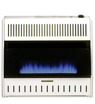 ProCom Medium Ventless Blue Flame Gas Space Heater - Thermostat Control - Dual Fuel