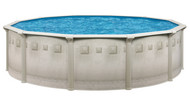 "15' Round Above Ground Swimming Pool Package, 52"" Nuance w/ Tuscan Wall"