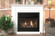 Tahoe Deluxe 32 Direct Vent Gas Fireplace (Remote Ready) with Hearth and Corner Surround